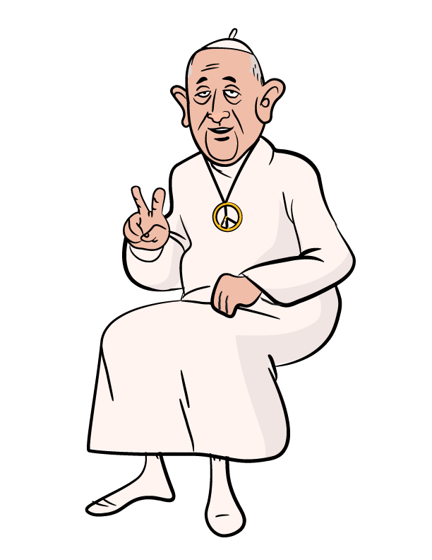 Frank the Hippie Pope Transparency